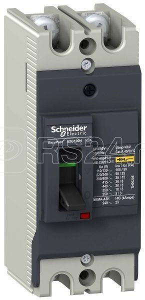 Выключатель автоматический 2п 2т 75А 30кА EZC100 380В SchE EZC100H2075 купить в интернет-магазине RS24