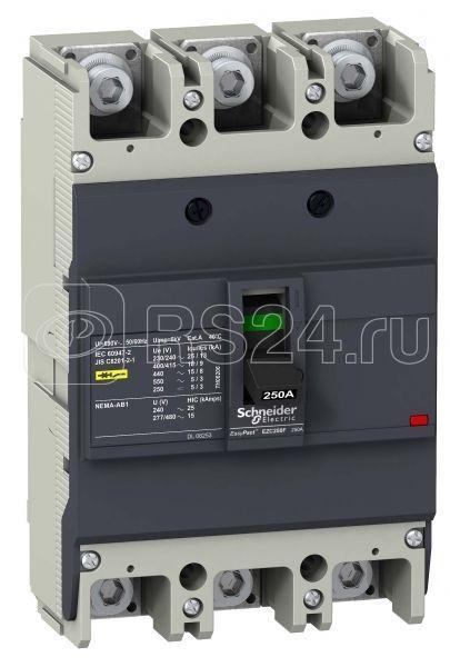 Выключатель автоматический 3п 3т 225А 18кА 400В EZC250F SchE EZC250F3225 купить в интернет-магазине RS24