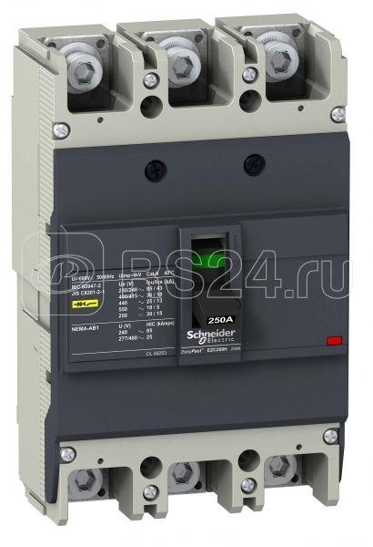 Выключатель автоматический 3п 3т 175А 36кА/415В EZC250 SchE EZC250H3175 купить в интернет-магазине RS24