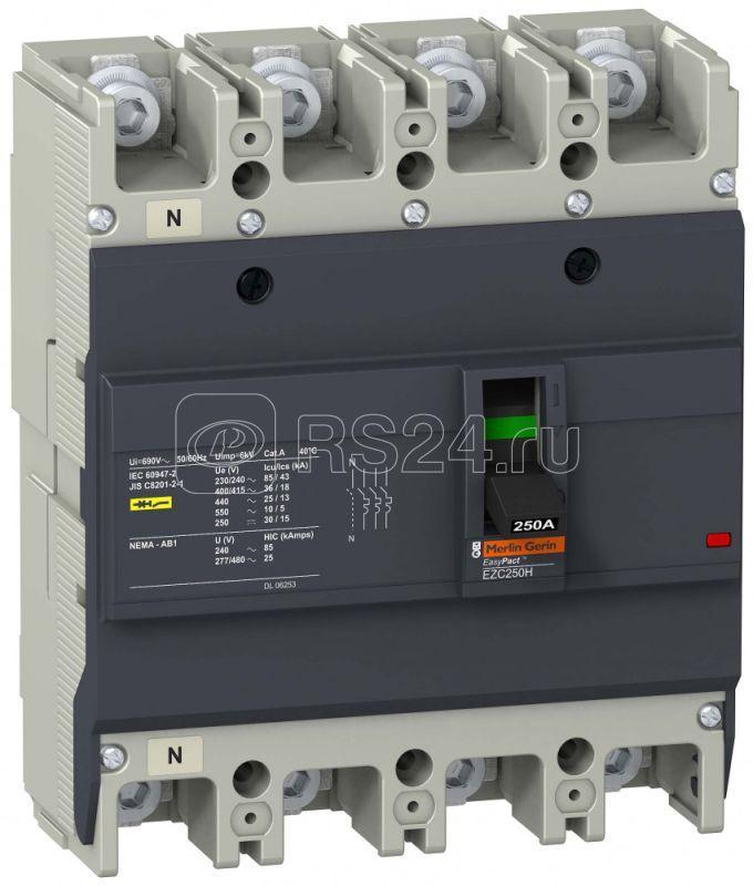Выключатель автоматический 4п 3т 150А 36кА/415В EZC250 SchE EZC250H4150 купить в интернет-магазине RS24