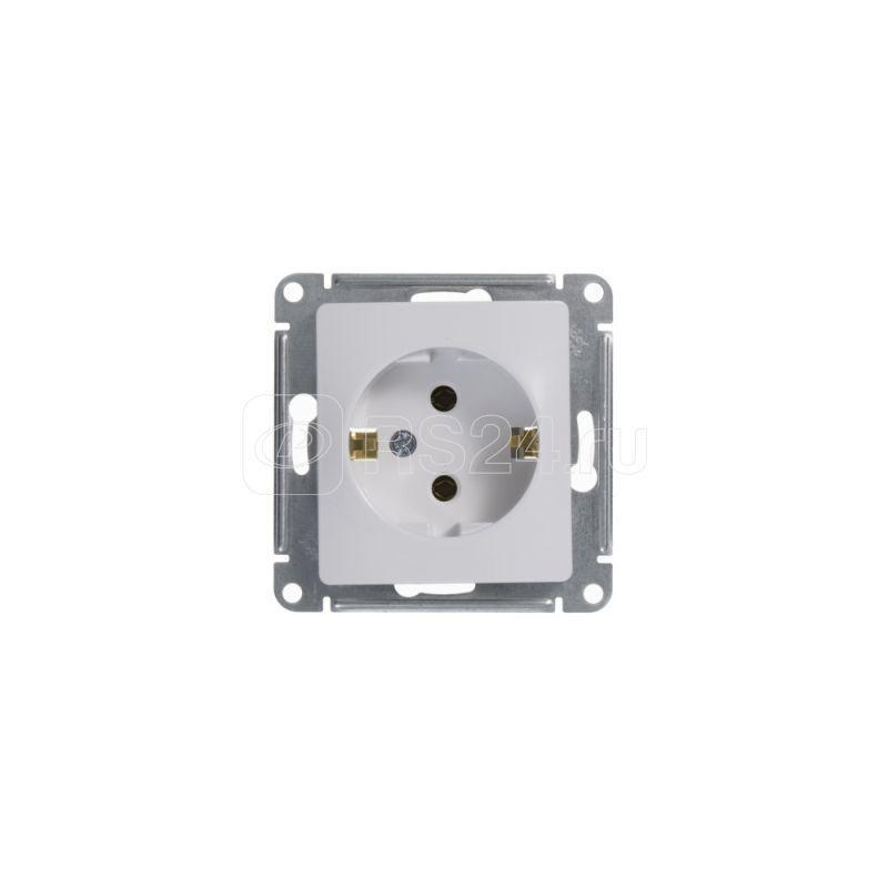 Механизм розетки 1-м СП Glossa 16А IP20 с заземл. бел. SchE GSL000143 купить в интернет-магазине RS24