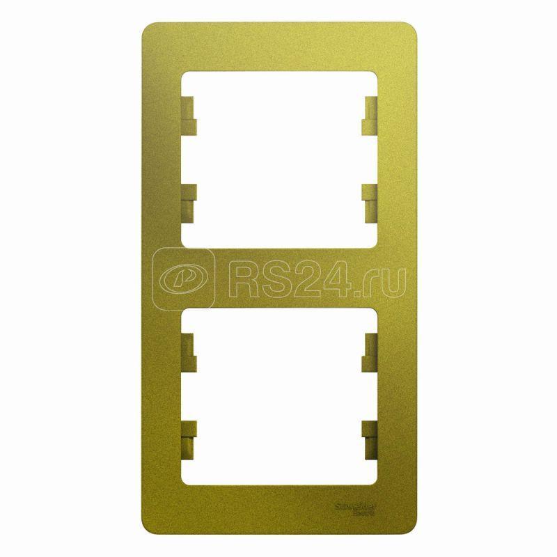 Рамка 2-м Glossa верт. фисташк. SchE GSL001006