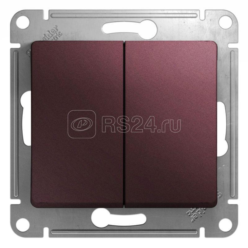 Механизм выключателя 2-кл. СП Glossa сх.5 10А IP20 10AX баклажан. SchE GSL001151
