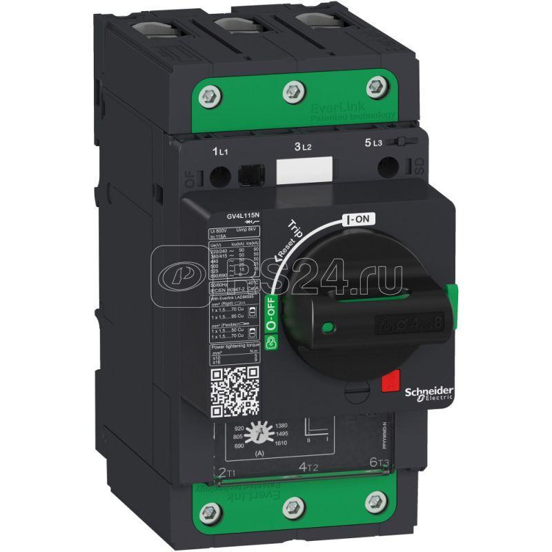 Выключатель автоматический 2А 50кА EVERLINK GV4L магнитн. расцеп. зажим SchE GV4L02N купить в интернет-магазине RS24