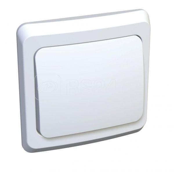 Выключатель кнопочный 1-кл. СП Этюд 10А бел. SchE KC10-001B