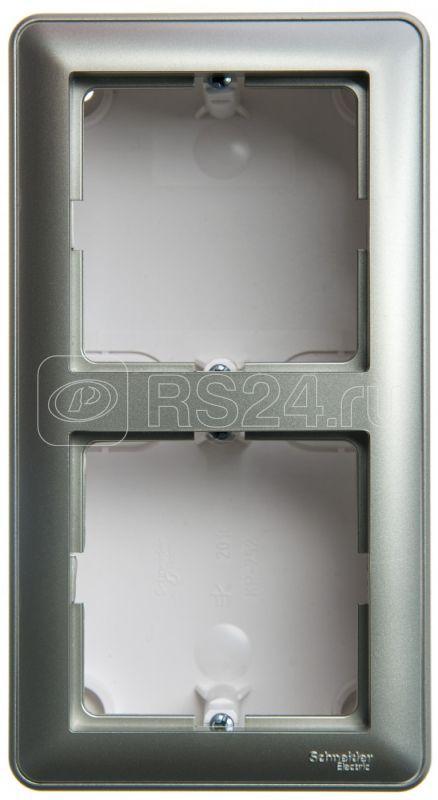 Коробка подъемная W59 для наружного монтажа с рамкой 2-местная шампань SchE KP-252-48 купить в интернет-магазине RS24