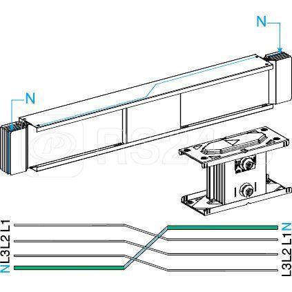 Секция прямая транспоз. нейтрал. проводов SchE KTC2000TN410 купить в интернет-магазине RS24