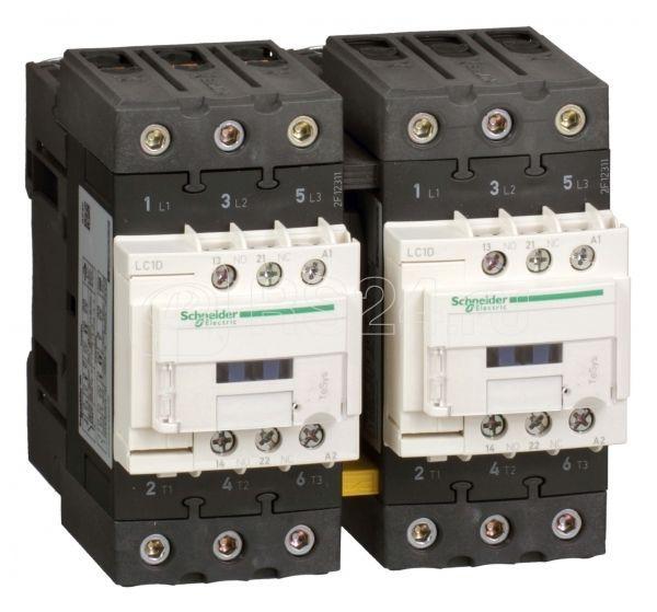 Контактор реверсивный 3п 40А EVERLINK AC3 440В катушка управления 24В AC 50/60Гц SchE LC2D40AB7 купить в интернет-магазине RS24