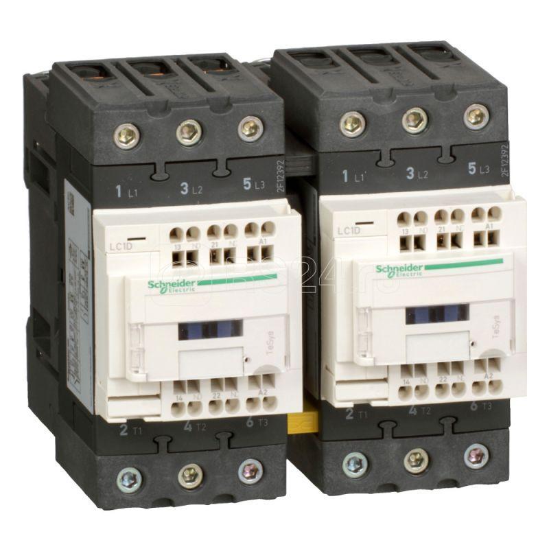 Контактор реверсивный 3п EVERLINK AC3 440В 50А катушка управления 100В AC 50/60Гц SchE LC2D50A3K7 купить в интернет-магазине RS24