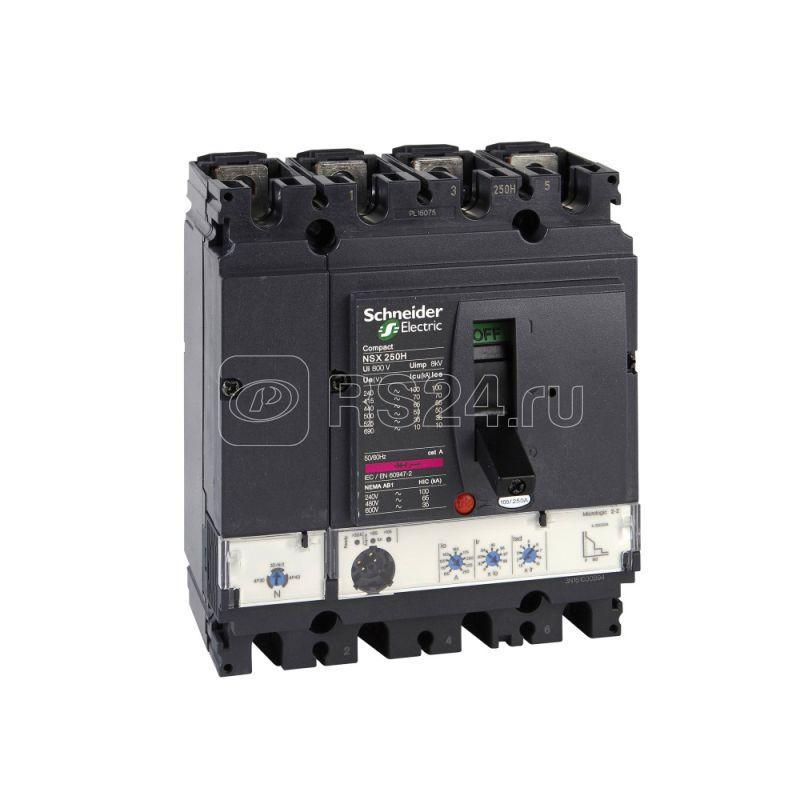 Выключатель автоматический 4п 4т 100А 70кА NSX100H Micrologic 2.2 SchE LV429800 купить в интернет-магазине RS24
