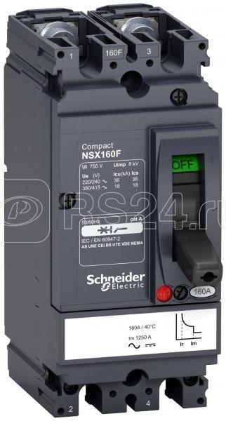 Выключатель автоматический 2п 160А 18кА NSX160F AC/DC SchE LV438700 купить в интернет-магазине RS24