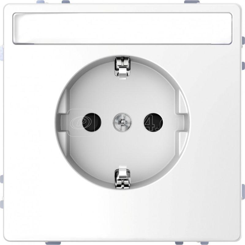 Розетка Merten D-Life 16А с заземл. и полем для надписи SD бел. лотос SchE MTN2302-6035 купить в интернет-магазине RS24