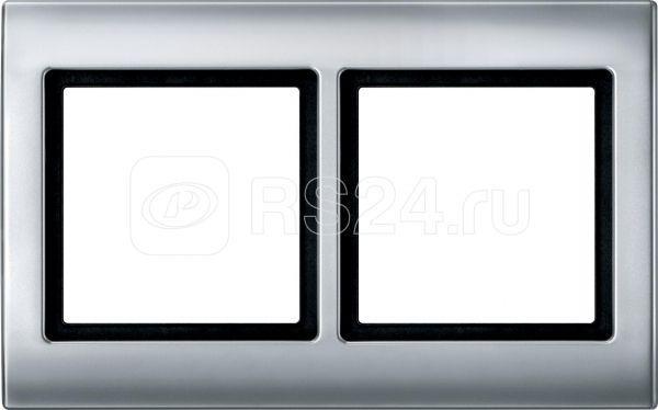 Рамка 2-м Merten IP44 алюм. SchE MTN400260 купить в интернет-магазине RS24