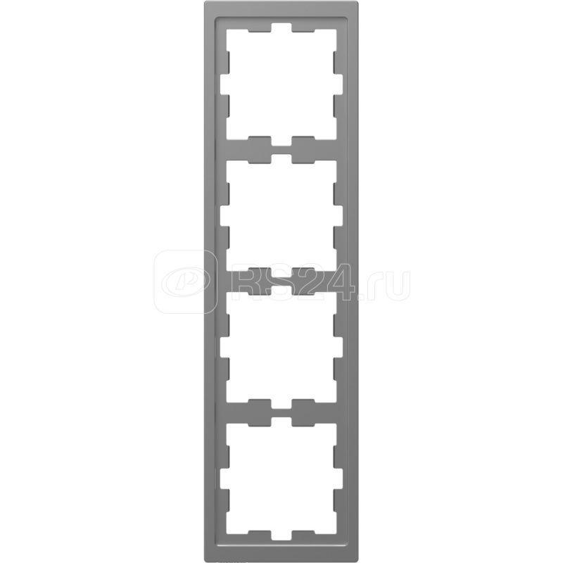 Рамка 4-м Merten D-Life SD нерж. сталь SchE MTN4040-6536 купить в интернет-магазине RS24