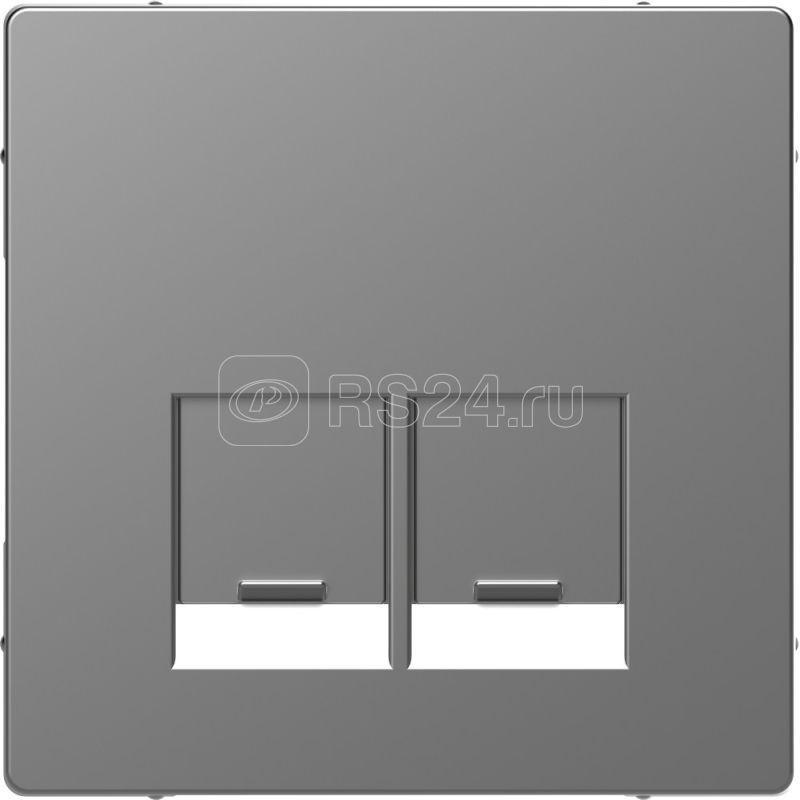 Накладка центральная Merten D-Life для 2мод. разъемов пол. для надписи SE SD нерж. сталь SchE MTN4572-6036 купить в интернет-магазине RS24