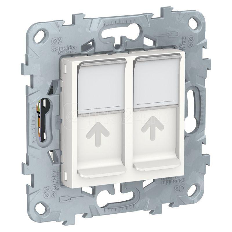 Механизм розетки компьютерная UNICA NEW RJ45 двойная кат.6 UTP бел. SchE NU542418 купить в интернет-магазине RS24