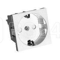 Розетка 1-м СП W45 для кабель-канала с заземл. защ. шторки бел. SchE RN16-113-B (РН16-113-б)