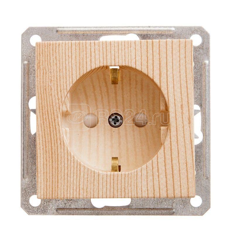 Механизм розетки 1-м СП W59 16А IP20 с заземл. защ. шторки сосна SchE RS16-152-7-86 купить в интернет-магазине RS24