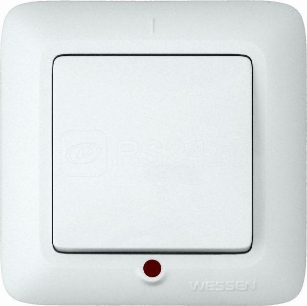 Выключатель 1-кл. СП Прима 6А IP20 с индик. бел. (опт. упак) SchE S16-053-B