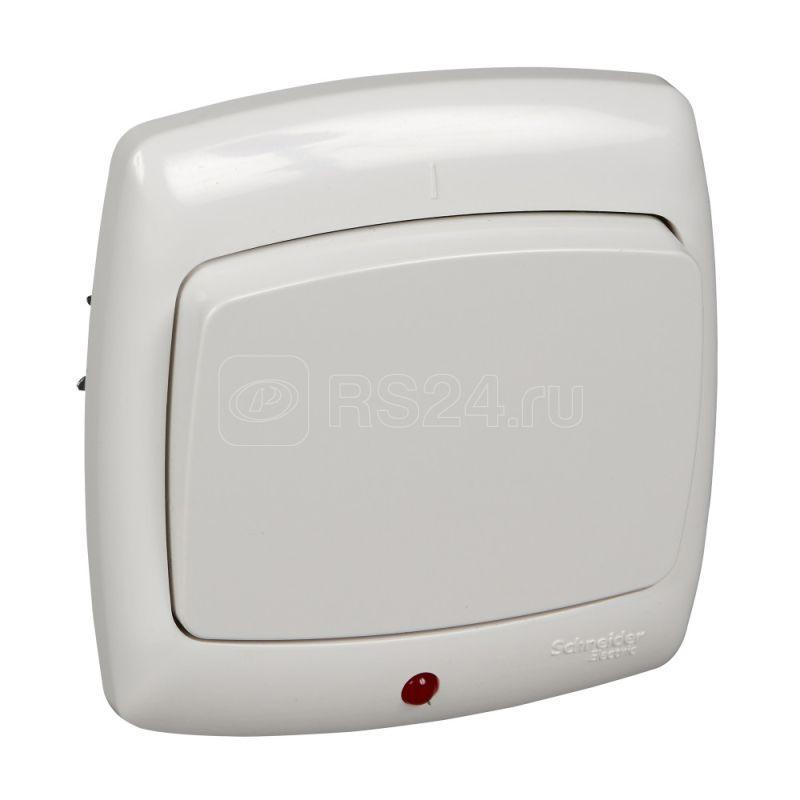 Переключатель 1-кл. СП Рондо с индик. бел. SchE S66-004-BI (С66-004-би)