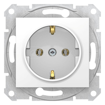 Механизм розетки 1-м СП Sedna без защ. шторок с заземл. бел. SchE SDN3000521