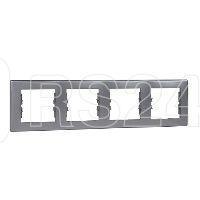 Рамка 4-м Sedna горизонт. алюм. SchE SDN5800760