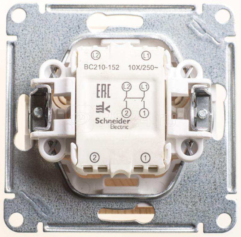 Механизм выключателя 1-кл. 2п ОП W59 10А IP20 10AX сосна SchE VS210-152-7-86 купить в интернет-магазине RS24