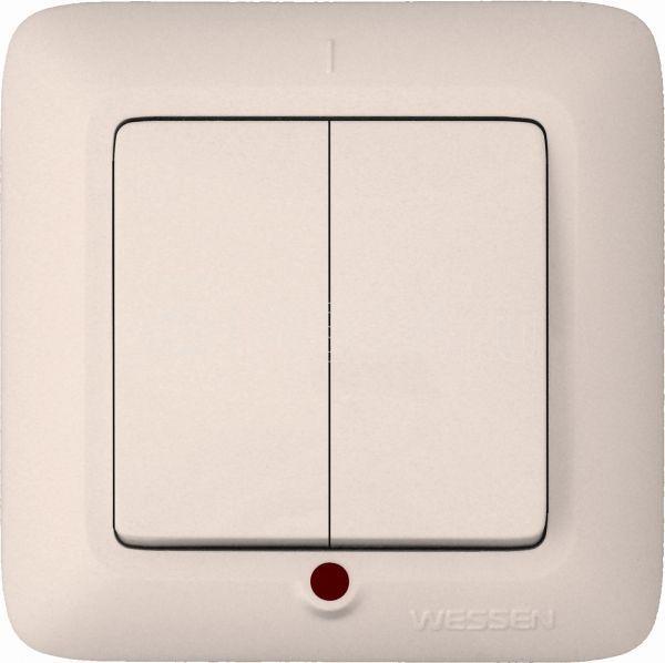 Выключатель 2-кл. СП Прима 10А IP20 с индикацией сл. кость (опт. упак.) SchE VS5U-217-S купить в интернет-магазине RS24