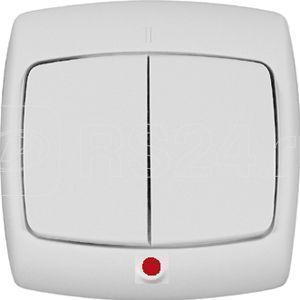 Выключатель 2-кл. СП Рондо 10А IP20 с индикацией бел. SchE VS5U-227-BI купить в интернет-магазине RS24