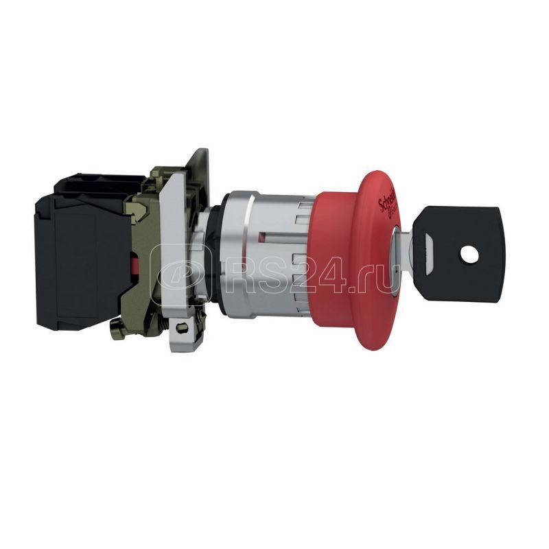 Кнопка аварийной остановки и откл. с ключом SchE XB4BS9442 купить в интернет-магазине RS24