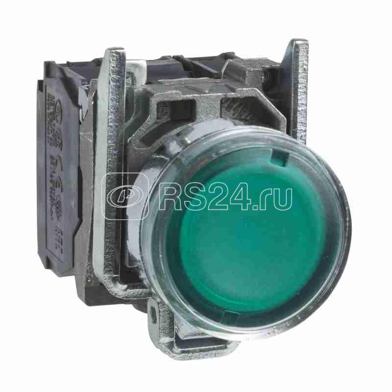 Кнопка 22мм 250В с возвр. с инд. зел. SchE XB4BW3365 купить в интернет-магазине RS24