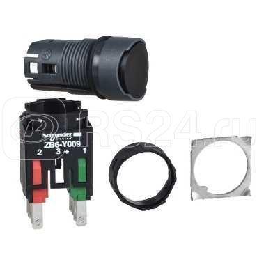 Кнопка 16мм черн. с возвр. SchE XB6AA22B купить в интернет-магазине RS24