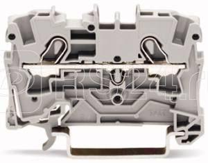 Клемма проходная 2х(0.5-6кв.мм) 52.5х33мм для Ex e сер. WAGO 2004-1201 купить в интернет-магазине RS24