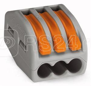 Клеммник 3х(0.08-2.5) WAGO 222-413