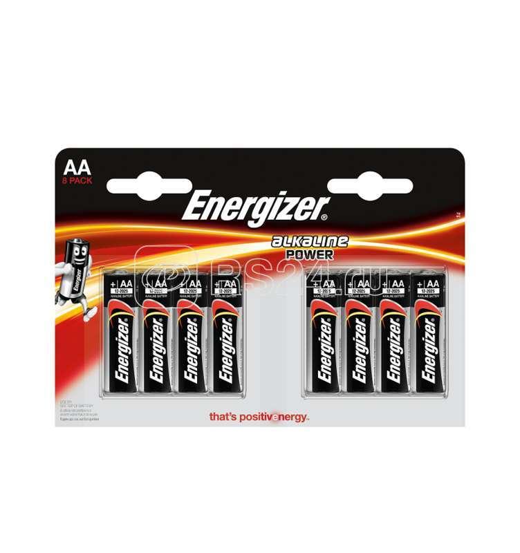 Элемент питания алкалиновый LR6-8BL POWER (8/96/18432) (блист.8шт) Energizer Б0027875 купить в интернет-магазине RS24