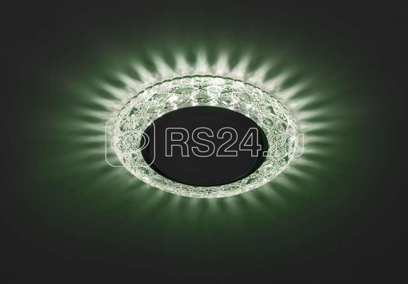 Светильник DK LD24 GR/WH декор cо светодиодной подсветкой Gx53 зел. ЭРА Б0029634 купить в интернет-магазине RS24