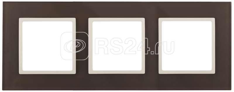 Рамка 3-м 14-5103-31 стекло Elegance серый+антрацит ЭРА Б0034521 купить в интернет-магазине RS24