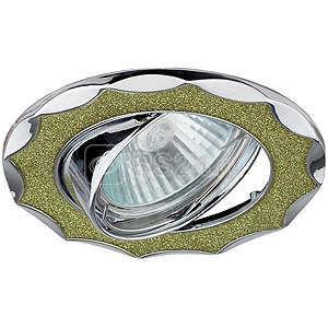 Светильник DK17 CH/SH CY декор звезда со стекл. крошкой MR16 12В 50Вт хром/салатов. ЭРА C0043757 купить в интернет-магазине RS24