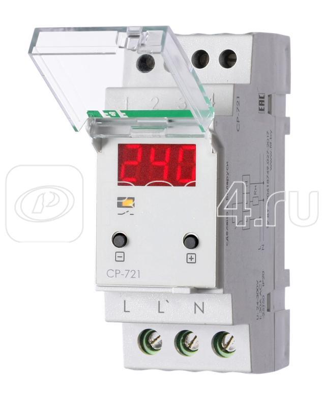Реле напряжения CP-721 (50-450В 30А 2 модуля IP20 монтаж на DIN-рейке)(аналог УЗМ) F&F EA04.009.003 купить в интернет-магазине RS24