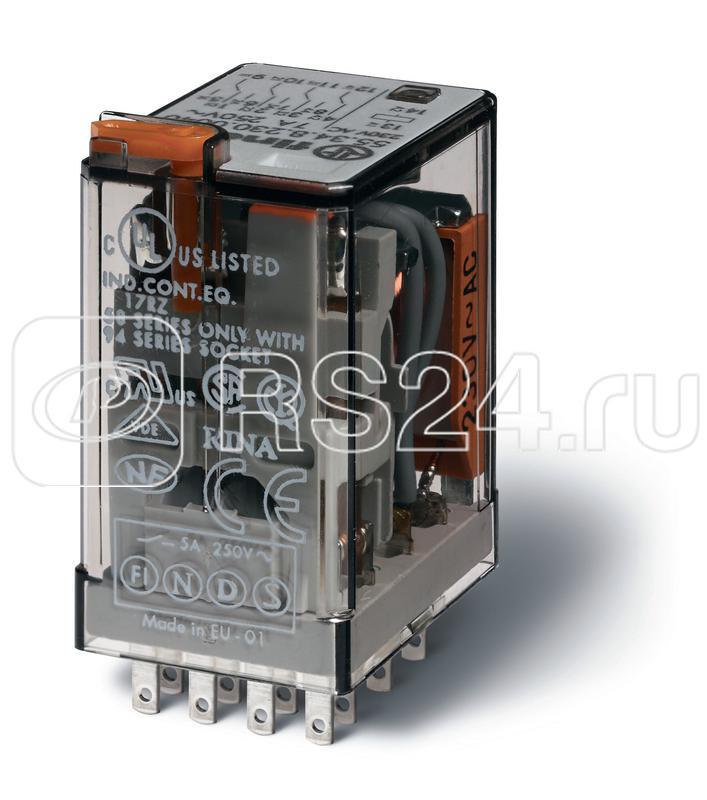 Реле миниатюрное универсальное 4СО 7А катушка 24В DC Finder 553490240090 купить в интернет-магазине RS24