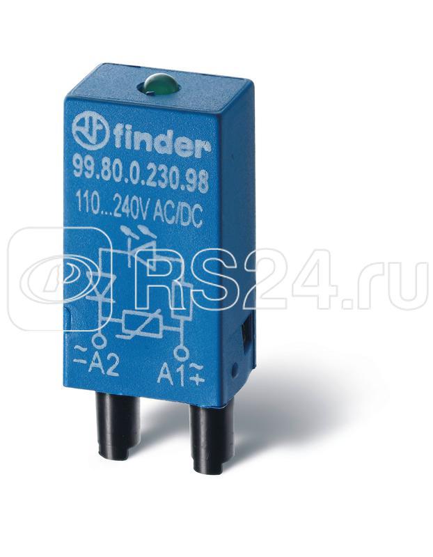 Модуль индикации и защиты LED + диод ( + A1) 6...24В DC зел. FINDER 9980902499 купить в интернет-магазине RS24