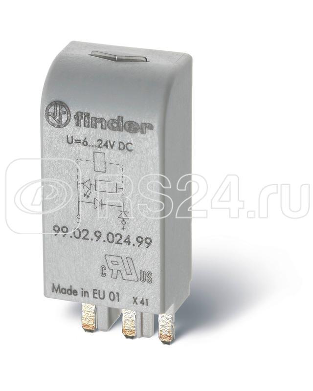 Модуль индикации и защиты LED 110-240В AC/DC зел.Finder 9902023098 купить в интернет-магазине RS24