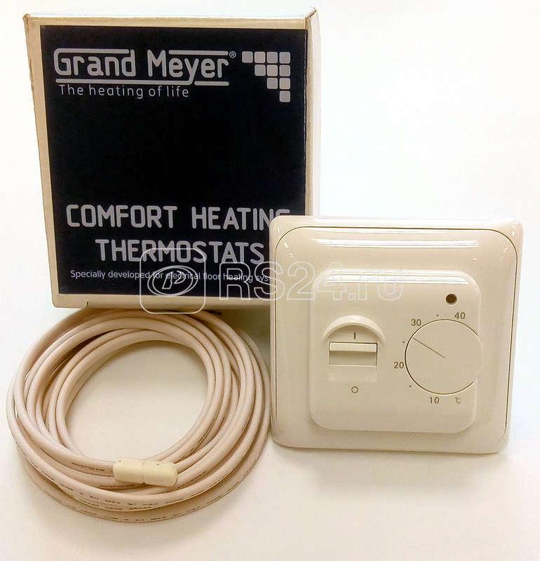 Термостат мех. MST-1 датчик пола 3.6кВт 16А крем. Grand Meyer MST-1i