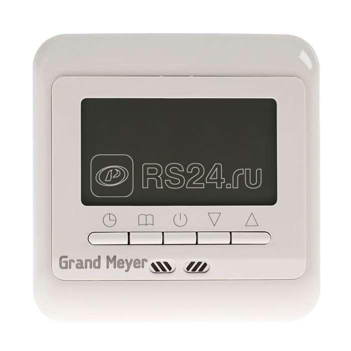 Термостат прогр. PST-3 дисп. датчик пола; датчик возд. 6.75кВт 30А крем. Grand Meyer PST-3i