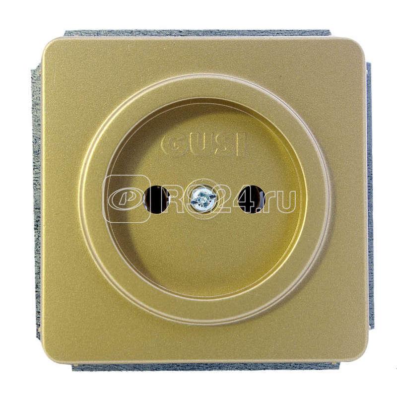 Механизм розетки 1-м СП Extra 16А IP21 без заземл. зол. GUSI С1Р1-005 купить в интернет-магазине RS24