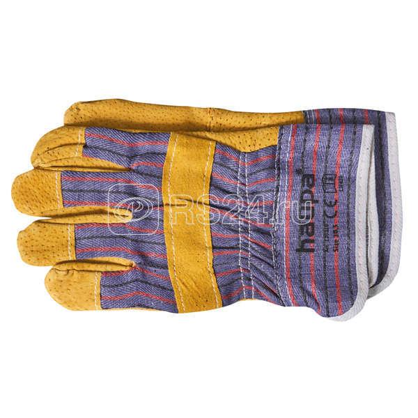 Перчатки рабочие с кожаными вставками размер 105d (пара) HAUPA 120310 купить в интернет-магазине RS24