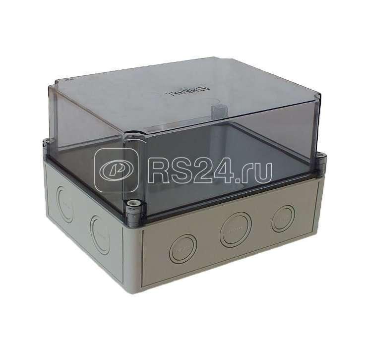 Коробка ПК высокая прозр. крышка сер. DIN HEGEL КР2802-923 купить в интернет-магазине RS24