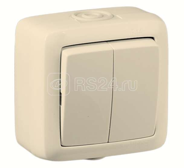 Выключатель 2-кл. ОП Альфа 10А IP44 250В без индик. сл. кость HEGEL ВА10-251-01 купить в интернет-магазине RS24