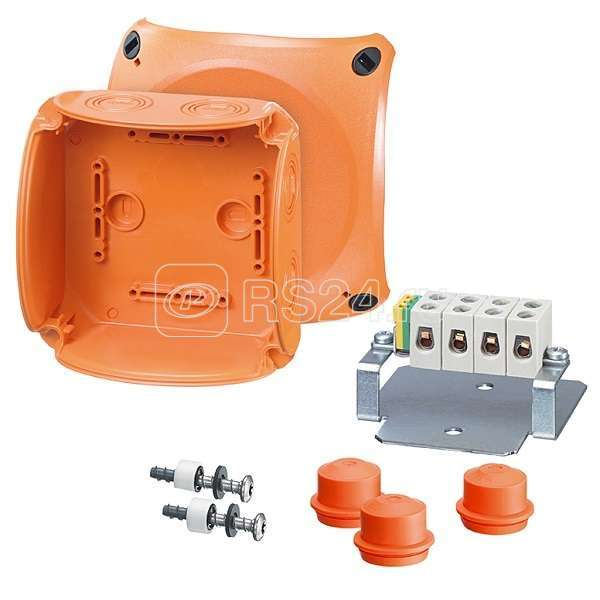 Коробка огнестойкая Е30 и Е90 IP65/66 130х130х77 3 EDKF32 (IP65). 5-п. кл. 1.5-6кв.мм FK 0606 HENSEL 62000183 купить в интернет-магазине RS24