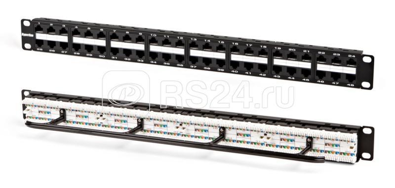 Патч-панель PPHD-19-48-8P8C-C5e-110D высокой плотности 19дюйм 1U 48 портов RJ45 кат. 5e Dual IDC Hyperline 32809